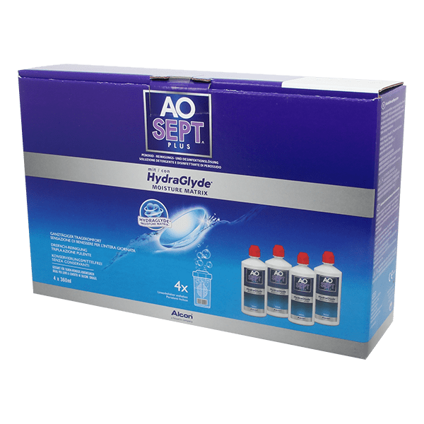 AOSEPT PLUS with HydraGlyde 4x360ml