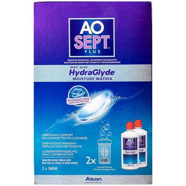 AOSEPT PLUS with HydraGlyde - 2 x 360ml
